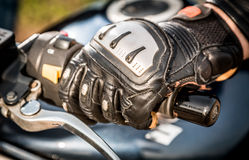 Motorcycle Racing Gloves Royalty Free Stock Photo