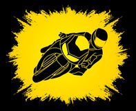 Motorcycle Racing graphic Stock Images