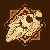Motorcycle Racing graphic Royalty Free Stock Photography