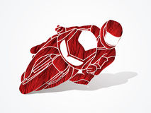 Motorcycle Racing graphic Stock Photos