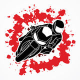 Motorcycle Racing graphic Royalty Free Stock Image