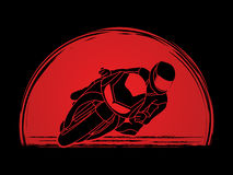 Motorcycle Racing graphic Royalty Free Stock Photos