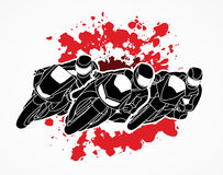 Motorcycle Racing graphic. Motorcycles Racing illustration graphic vector Stock Photos