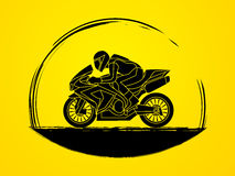 Motorcycle Racing graphic. Motorcycles Racing illustration graphic vector Stock Photo