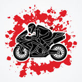 Motorcycle Racing graphic. Motorcycles Racing illustration graphic vector Stock Images