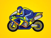 Motorcycle Racing graphic. Motorcycles Racing illustration graphic vector Royalty Free Stock Photography