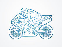 Motorcycle Racing graphic. Motorcycles Racing illustration graphic vector Royalty Free Stock Images