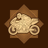 Motorcycle Racing graphic. Motorcycles Racing illustration graphic vector Royalty Free Stock Photos
