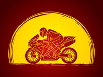 Motorcycle Racing graphic. Motorcycles Racing illustration graphic vector Royalty Free Stock Photo