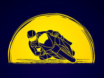 Motorcycle racing graphic vector. Royalty Free Stock Images