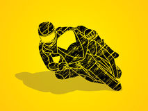Motorcycle racing graphic vector. Royalty Free Stock Photos