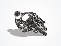 Motorcycle racing graphic vector. Stock Image