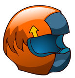 Motorcycle Racing Helmet. vector illustration