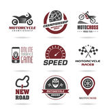 Motorcycle racing icon set - 2 Stock Images