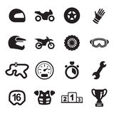 Motorcycle Racing Icons Royalty Free Stock Images