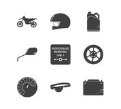 Motorcycle racing simple icon set royalty free stock photos