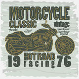 Motorcycle Racing t-shirt - vector Royalty Free Stock Image