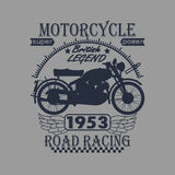 Motorcycle Racing Typography Graphics Label. T Stock Photo