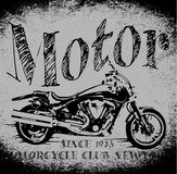Motorcycle Racing Typography Graphics. Old school bike. T-shirt Stock Photography