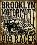 Motorcycle Racing Typography Graphics and Poster. Skull and Old Royalty Free Stock Photos