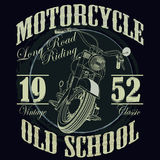Motorcycle Racing Typography Graphics. Racing. T Stock Image