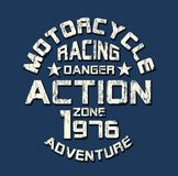 `motorcycle, racing` typography, sporting tee shirt graphics royalty free illustration