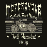 Motorcycle Racing Typography t-shirt Stock Photo