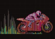 Motorcycle racing. Stock Image