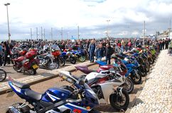 Motorcycle rally, Hastings Stock Images