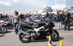 Motorcycle rally, Hastings Stock Image