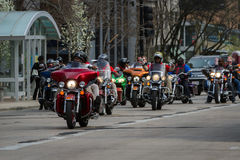 Motorcycle rally Royalty Free Stock Image
