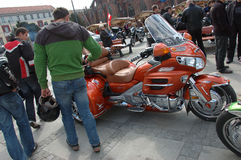 Motorcycle rally in Wroclaw, Poland Royalty Free Stock Photography