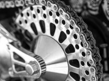 Motorcycle rear chain Stock Photo