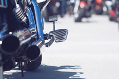 Motorcycle rear exhaust pipes detail Stock Photography