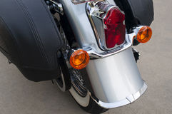 Motorcycle Rear Fender and Tail Lights Royalty Free Stock Image