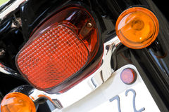 Motorcycle rear lights Stock Photo
