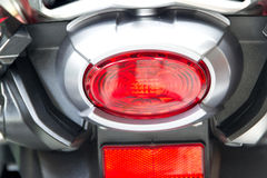 Motorcycle rear lights Royalty Free Stock Images