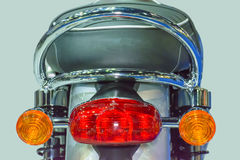The motorcycle rear lights Stock Images