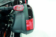 Motorcycle Rear Lights and Saddlebag. Image With White Background Stock Photography