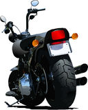 Motorcycle rear-side  view Royalty Free Stock Photo