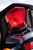 Motorcycle rear stop light Stock Photos