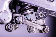 Motorcycle rear suspension linkage Royalty Free Stock Image