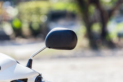 The Motorcycle rear view mirror. Stock Images