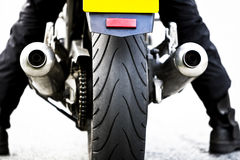 Motorcycle rear view Stock Image