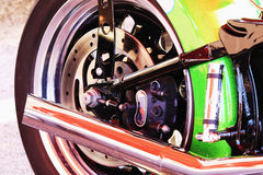 Motorcycle rear wheel Stock Image