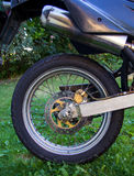 Motorcycle rear wheel Stock Images
