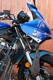Motorcycle Repair. Motorcycle restoration project with fairings removed Royalty Free Stock Photo