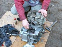 Motorcycle repairing Royalty Free Stock Images