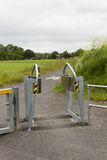 Motorcycle restrictor barrier Stock Photos