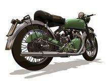 Motorcycle retro. Image computer, motorcycle retro 3D isolated white background Royalty Free Stock Image
